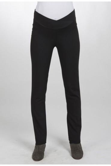 Pantalon de grossesse taille basse noire