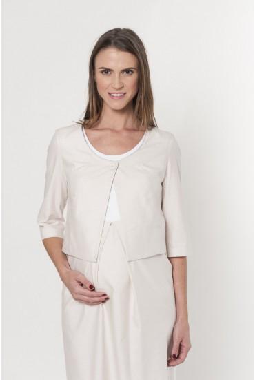 veste courte grossesse coton