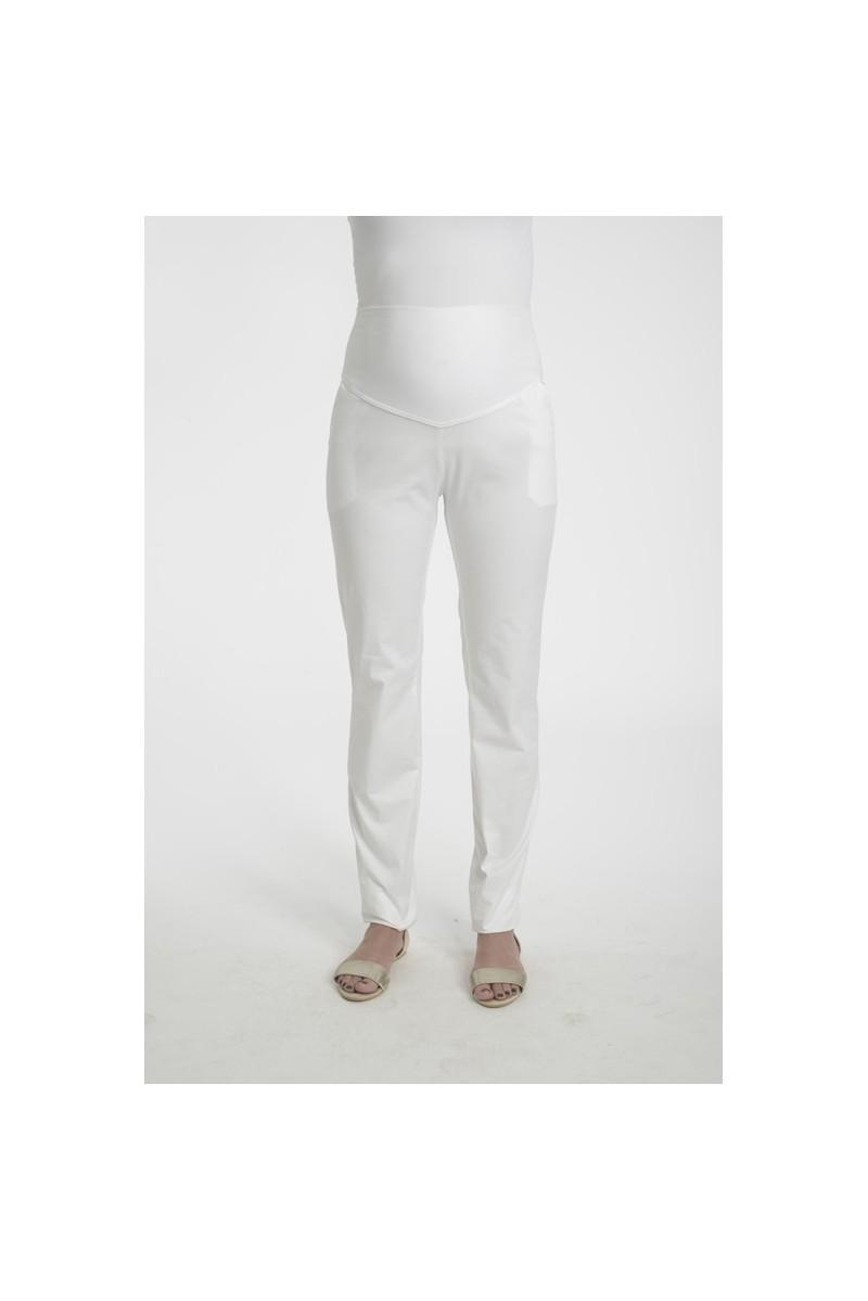 pantalon grossesse blanc taille haute. Black Bedroom Furniture Sets. Home Design Ideas