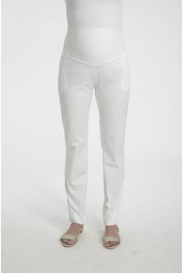pantalon  grossesse blanc taille haute