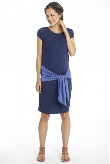 Robe de grossesse jersey uni