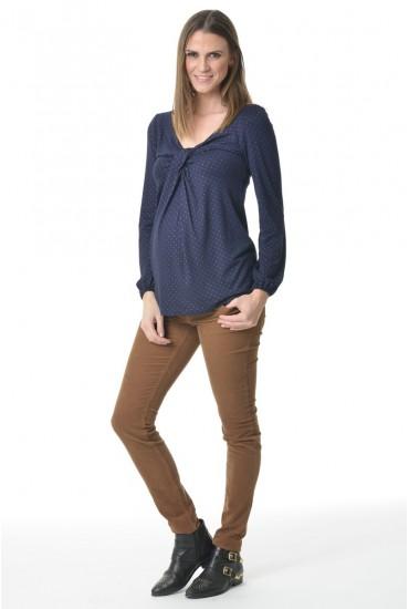 jean de grossesse slim velours taille basse