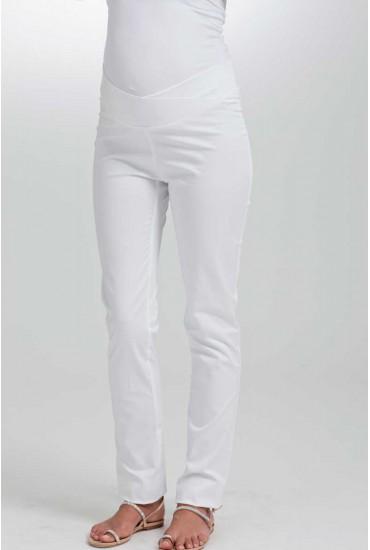 pantalon grossesse blanc taille croisée