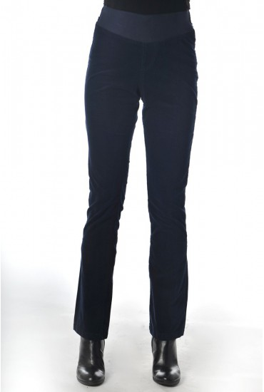 Pantalon grossesse velours stretch bleu