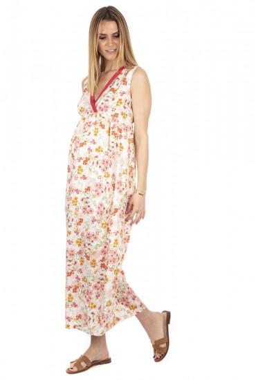 Robe longue de grossesse sans manches