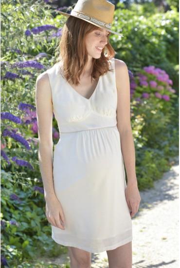 robe sans manches grossesse à nouer