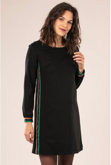 robe grossesse bande côté lurex