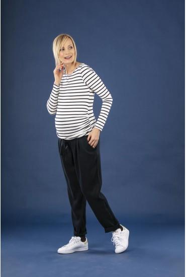 Pantalon de grossesse carott marine