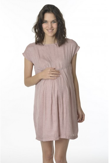 Robe de grossesse rosé