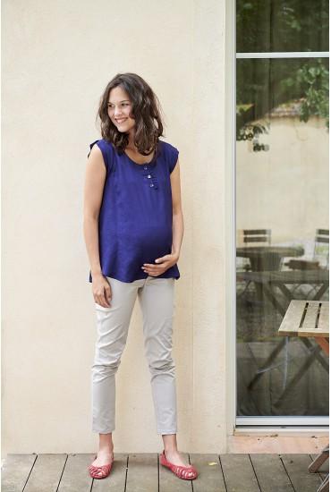 Pantalon de grossesse raccourci uni