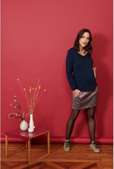 Jupe courte jacquard chic