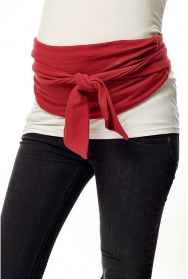 ceinture à nouer rouge maille