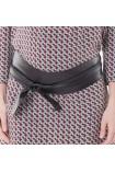 ceinture grossesse à nouer simili cuir noir