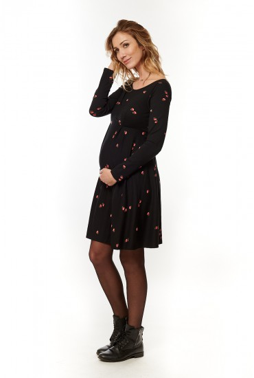robe courte grossesse jeanne fleur rose