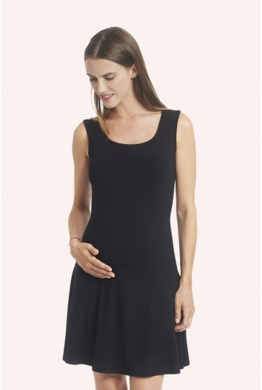 Robe chasuble noire jersey