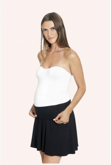 Robe de grossesse bustier noir