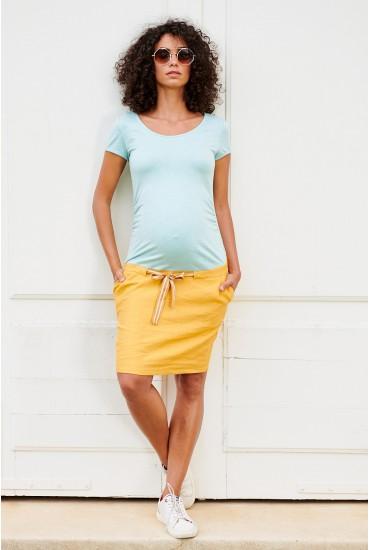 Robe de grossesse bi-matière
