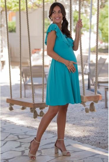 Robe de grossesse Daria aqua
