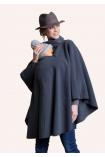 Poncho de grossesse et portage gris