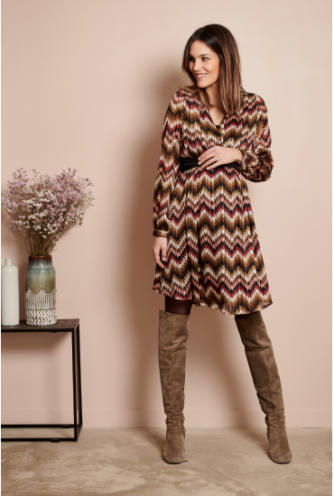 Robe de grossesse Sylvia stripes