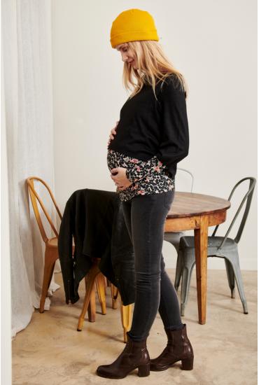 Jean de grossesse slim taille haute noir