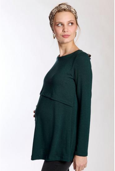 Pull de grossesse & allaitement émeraude