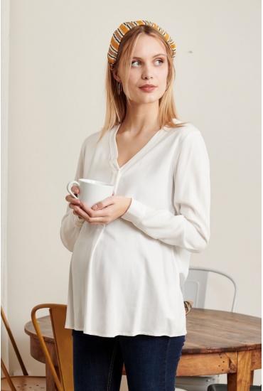Blouse fluide de grossesse & allaitement